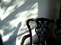 bakutarbetad skugga för stol Fotografering för Bildbyråer