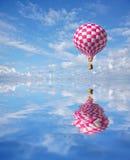 balão 3d Vermelho-branco Fotografia de Stock