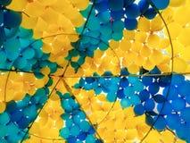 balão amarelo azul Imagem de Stock Royalty Free