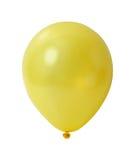 Balão amarelo com trajeto Fotos de Stock Royalty Free