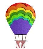 Balão, arte de papel Fotos de Stock
