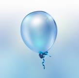 Balão azul brilhante Imagens de Stock Royalty Free