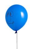 Balão azul com sorriso Fotografia de Stock