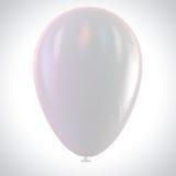 Balão branco Fotografia de Stock