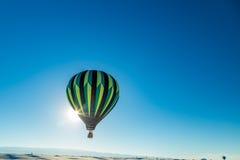 Balão branco 2016 com convite das areias Fotografia de Stock