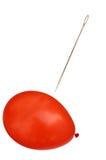 Balão com agulha Fotos de Stock Royalty Free