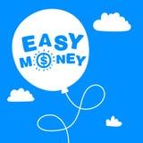 Balão com o dinheiro fácil das palavras Ilustração Stock