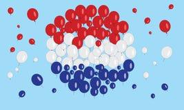 Balão da bandeira de Netherland Imagem de Stock