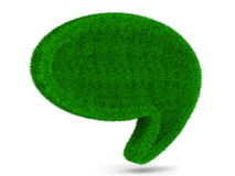 Balão da conversa no fundo branco Foto de Stock Royalty Free