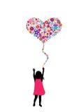 Balão da flor ilustração royalty free