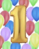 Balão da folha de ouro Imagens de Stock Royalty Free