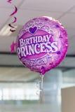 Balão da princesa do aniversário Fotografia de Stock