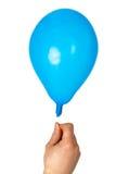 Balão da terra arrendada da mão Foto de Stock Royalty Free