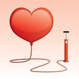 Balão dado forma coração Imagem de Stock