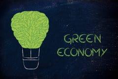 Balão de ar feito das folhas, interpretação engraçada do en renovável Imagens de Stock Royalty Free