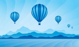 Balão de ar no céu Imagens de Stock Royalty Free