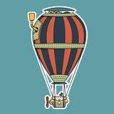 Balão de ar quente colorido de Steampunk Fotos de Stock