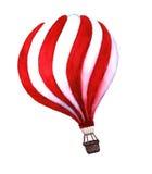 Balão de ar quente da aquarela Balões de ar tirados mão do vintage com ilustração royalty free