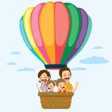 Balão de ar quente da família Fotos de Stock