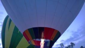 Balão de ar quente de Tailândia, festival internacional video estoque