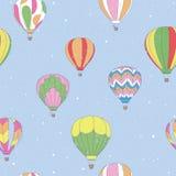 Balão de ar quente do vintage Fotografia de Stock Royalty Free