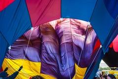 Balão de ar quente durante a inflação Foto de Stock Royalty Free