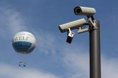 Balão de ar quente Hiflyer (Highflyer), balão do mundo - câmaras de vigilância, cctv Foto de Stock