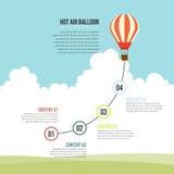 Balão de ar quente infographic ilustração royalty free
