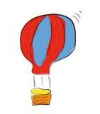 Balão de ar quente isolado em um fundo branco Fotos de Stock Royalty Free