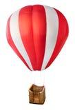 Balão de ar quente modelo com cesta de vime fotografia de stock royalty free