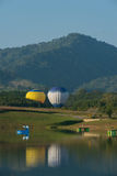Balão de ar quente no céu Foto de Stock Royalty Free