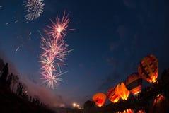 Balão de ar quente no festival internacional 2009 do balão de Tailândia Fotografia de Stock Royalty Free