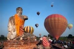 Balão de ar quente no festival internacional 2009 do balão de Tailândia Fotografia de Stock