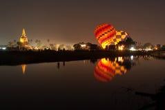 Balão de ar quente no festival internacional 2009 do balão de Tailândia Fotos de Stock Royalty Free