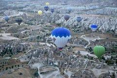 Balão de ar quente no peru Imagem de Stock