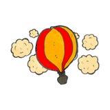 balão de ar quente retro dos desenhos animados Foto de Stock
