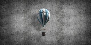 Balão de ar quente de voo na sala imagens de stock royalty free
