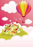 Balão de ar sobre o cit Imagem de Stock Royalty Free