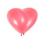 Balão de ar vermelho. Como o coração Imagem de Stock Royalty Free