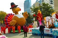 Balão de Turquia na parada da ação de graças de Philly Fotos de Stock Royalty Free
