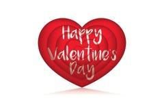 balão do amor do valentie 3D com reflexão Foto de Stock Royalty Free