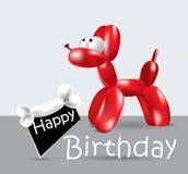 Balão do cartão do feliz aniversario Imagem de Stock Royalty Free