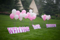 Balão do casamento Fotos de Stock Royalty Free