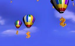 Balão do dólar Imagens de Stock Royalty Free