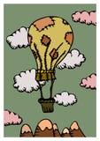 Balão do espírito livre ilustração do vetor