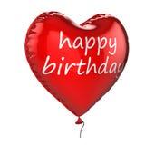 balão do hélio do feliz aniversario 3D ilustração stock