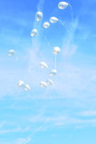 Balão do vôo Fotografia de Stock