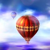 Balão do vetor no céu Imagens de Stock Royalty Free