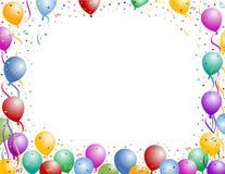 Balão e confetti ilustração stock
