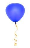 Balão e flâmula dados forma coração imagens de stock